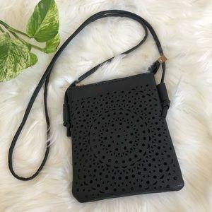 Handbags - Black Crossbody Vegan Leather Boho Festival Bag